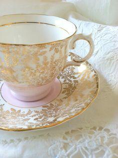 Vintage Colclough Bone China Tea Cup and Saucer // via Etsy