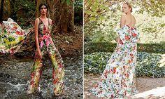 vestidos de fiesta con flores para las invitadas de 2017