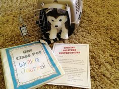 Class Pet Writing Journal~love the 'share-chair', crate, and 'delivery' is a definite must :).