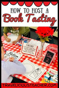 How to Host a Book Tasting in a Primary Classroom A book tasting is a totally doable room transformation your students will go crazy over! I recently decked out my classroom and turned it into 'McJondle's Café' for the first time, and let me tell you — it Art Therapy Activities, Reading Activities, Teaching Reading, Guided Reading, Primary Classroom, Future Classroom, Classroom Decor, Book Tasting, First Grade Reading