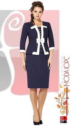 1989-1_1 (382x682, 138Kb) Workwear Fashion, Fashion Wear, Skirt Fashion, Fashion Outfits, Dress Plus Size, Plus Size Outfits, African Fashion Dresses, African Dress, Elegant Outfit