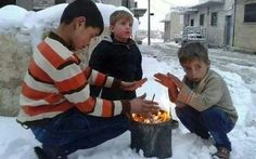 """I lost my words """", I lost my voice """", they must be cold """", really cold The Children of Syria Children Of Syria, Syrian Children, Save The Children, Poor Children, Bless The Child, World Hunger, Refugee Crisis, Asian Kids, Syrian Refugees"""