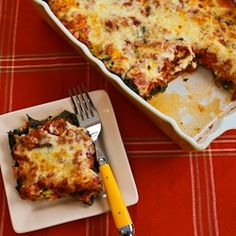 Sausage and Kale Mock Lasagna Casserole- a weekly family favorite