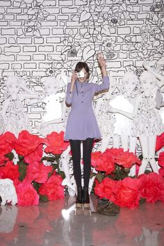Alexa Chung. Mulberry store opening, Korea
