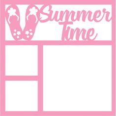 Summer Time - Laser Die Cut Scrapbook Overlay