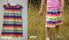 Dress to skirt re-fashion