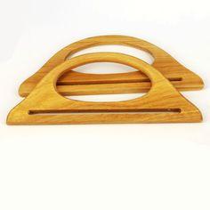 Manijas-Correa de hombro Bolsa Hoooked-Bambú de Madera Oval Aros Zpagetti