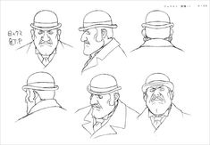 Living Lines Library: Suchîmubôi: Steamboy - Model Sheets Character Model Sheet, Character Poses, Character Modeling, Character Design References, Character Concept, Concept Art, Face Sketch, Animation, Character Illustration