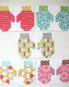 Bee In My Bonnet: The Bee in my Bonnet Row Along Mittens Block Tutorial Quilting Tutorials, Quilting Projects, Quilting Designs, Sewing Projects, Sewing Ideas, Quilting Tips, Christmas Blocks, Christmas Sewing, Christmas Quilting