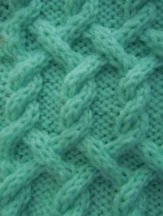 Turning Diagonals Cable knitting stitch; how to knit -- use on one of the pillows (assuming that cables will show up)