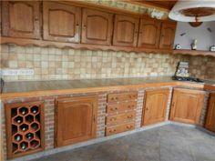 Cuisine moderne en bois meubles plan de travail Cuisine equipee ancienne