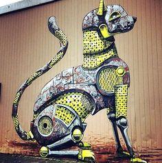 Arte urbano by Pixel Pancho #Streetart | #Art | #Creative | #Design |  https://www.facebook.com/RevistaTheMoots