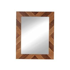 Rost Pieced Wood Brown Framed Wall Mirror