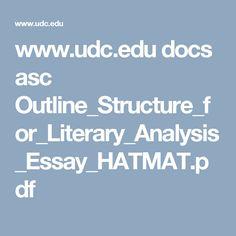 literary analysis essay outline pdf