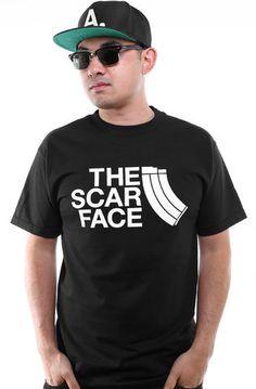 The Scar Face (Men's Black Tee)