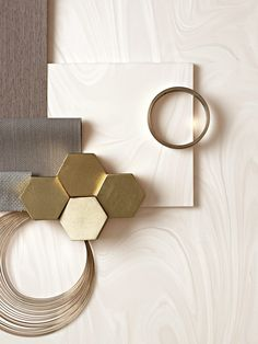 A moodboard is always an inspiration to interior design! Pattern Texture, Fluid Design, Material Board, Gold Material, Mood And Tone, Interior Design Boards, Moodboard Interior Design, Arts And Crafts House, Visual Texture
