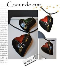 Photo tutorial for a zippered leather heart.