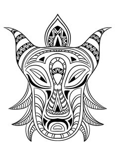 Free coloring page coloring adult african mask Coloring picture