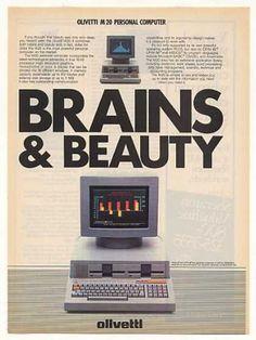 Olivetti M20 Personal Computer Brains & Beauty Ad (1982).