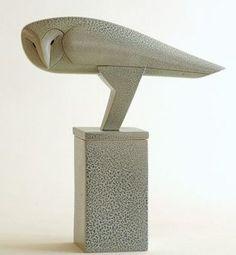 Owl bird box - Anthony Theakston (porcelain):