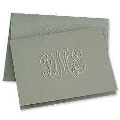 Embossed Graphics - Eco-Traditional Monogram Note Now at Occasions by the Christmas Store in Tyler, Texas!