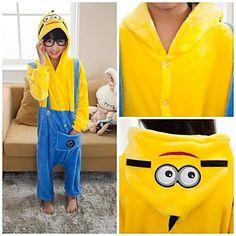 7c0e6d6e8ec74 Despicable Me Minions Kids Kigurumi Pajamas Movie Cosplay Sleepwear My  Minion, Minions, Despicable Me