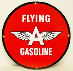 Flying A Gasoline Reproduction Sign. Shop now at www.gaspumpheaven.com! $20.00 #retro #collectible