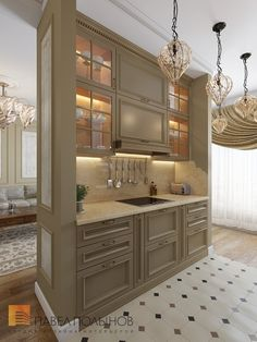Modern Home Decor Kitchen Studio Kitchen, Home Decor Kitchen, Kitchen Interior, Country Interior Design, Interior Design Living Room, Pantry Design, Kitchen Design, Kitchen Installation, Kitchen Cabinetry