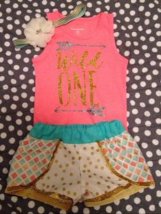 Wild One First Birthday Outfit//Girl by ClairesCreations15 on Etsy