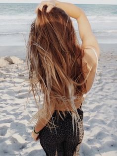 Long beachy hair