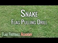 Snake Drill - Flag Football Flag Pulling Drill - YouTube