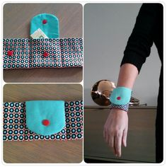 FREE Pattern and Tutorial for Wrist Wallet - https://sewing4free.com/wrist-wallet/