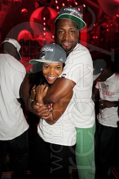 Gabrielle Union and Dwyane Wade Celebrate the Miami Heat's victory at LIV | World Red Eye