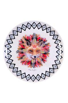 Vente FOX TROT ET MERCI GUSTAVE / 26211 / Foxtrot / Table et présentation / Plat Wild forest 36 cm - Blanc et rose
