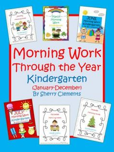 Morning Work Through the Year - Kindergarten (January-December) from Dr. Clements' Kindergarten on TeachersNotebook.com -  (268 pages)  - Morning Work Through the Year - Kindergarten (January-December) - Language Arts and Math skills included daily - Great for BACK TO SCHOOL!