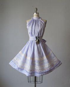 Dress /  Pale lavender    / Vintage lace / Ruffles / Romantic / Dreamy / Soft  / Sleeveless  / Bridesmaids / Wedding  / Flowy / Delicate. $89.99, via Etsy.