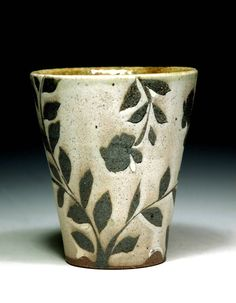 the modern pottery studio — Drinking cup by Michael Kline. Via Etsy. Be...