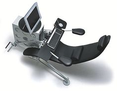 Hm. This looks like it doubles as a dentist's chair and/or exercise bike (?)
