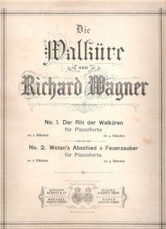 WAGNER 2013 (130 ° Scomparsa E 200° Nascita ): WAGNER e DIE WALKURE : Wotan's  abschied & feuerza...