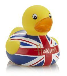 HARRODS UNION JACK RUBBER BATH  DUCK BNIB  | eBay