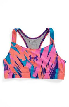 Under Armour 'Dazzle' HeatGear® Sports Bra (Big Girls) | Nordstrom