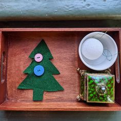 """Northumberland Montessori on Instagram: """"Welcoming December in the Casa classroom ❄️ Button sewing, ribbon weaving, cursive writing, and holiday music!✨ . . #Montessori…"""""""
