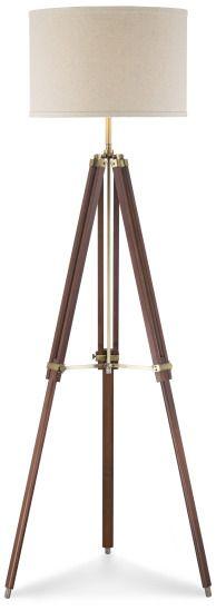 Lamps Plus Cherry Finish Wood Surveyor Tripod Floor Lamp | $200