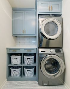 Laundry Room Closet Stackable - Laundry Room Sorting Basket There are instances your loads of laundry are beginning to take up lots of floor space. you get a great laundry sink also. Laundry Room Layouts, Laundry Room Remodel, Small Laundry Rooms, Laundry Room Organization, Laundry Room Design, Laundry Storage, Laundry Room Ideas Stacked, Closet Laundry Rooms, Laundry Closet Makeover