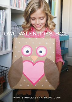 Does your child need a cute way to carry all those Valentine's Day cards home from school or a place to keep them organized at home. This Polkadot Owl Valentines Box is Adorable and Just the Solution!