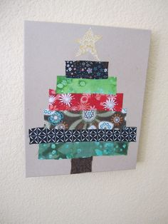 christmas tree out of fabric