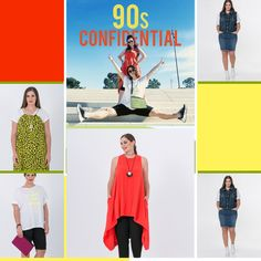The 90's are back!   By Mat. fashion  Real Size  Plus Size Fashion