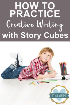Learning to write doesn't have to be boring. Try practicing creative writing with story cubes is a fun alternative! Creative Writing Stories, Kids Writing, Kids Reading, Writing Skills, Ways Of Learning, Learning To Write, What Is Story, Story Cubes, Comprehension Activities
