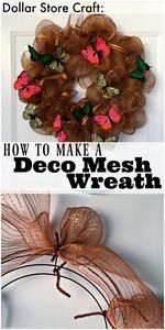 You've seen those big puffy, ruffly wreaths at craft stores and on people's doors, and at craft shows, but did you know it's possible (and fun) to make your own deco mesh wreath? Deco mesh wreaths are...