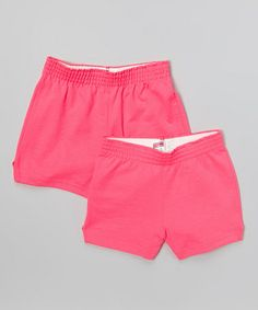 Pink Glo Shorts Set - Girls by Soffe #zulily #zulilyfinds